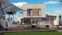 Современный двухэтажник в стиле хай тек