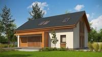 Обновленный проект дома с мансардой по типу 4M234