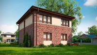 Бюджетный вариант двухэтажного коттеджа по типу 4M628 без гаража