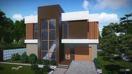 Проект красивого современного дома в стиле модерн