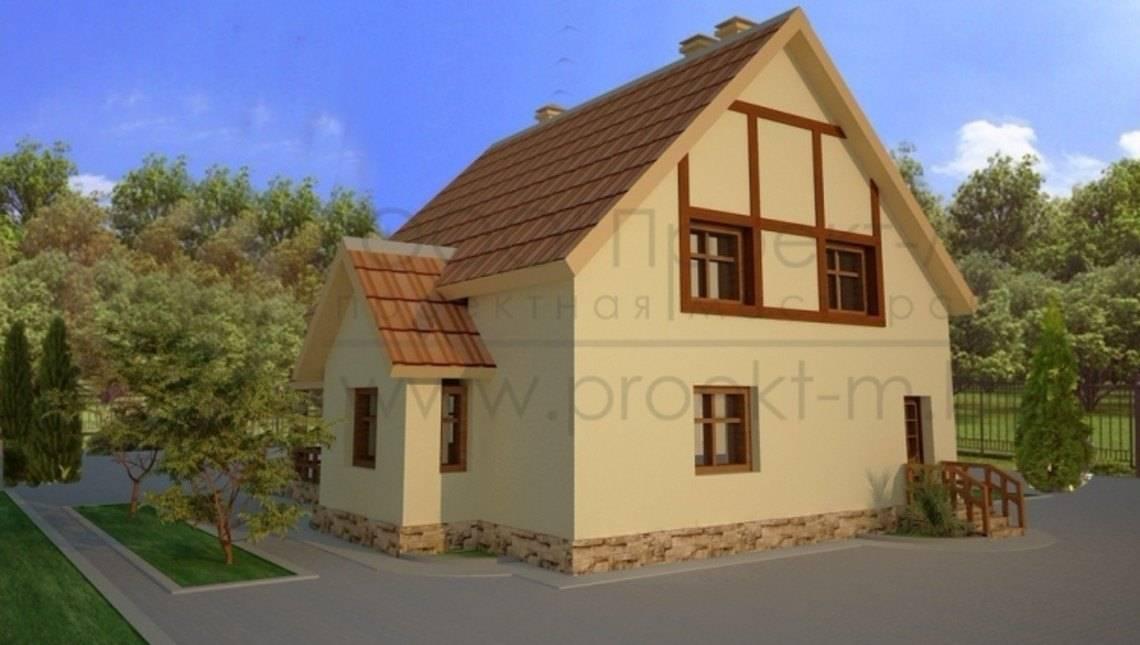 Загородный домик с мансардой
