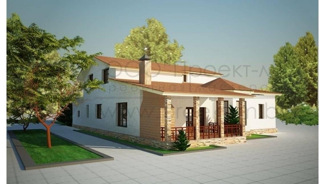 Дом с мансардой в греческом стиле