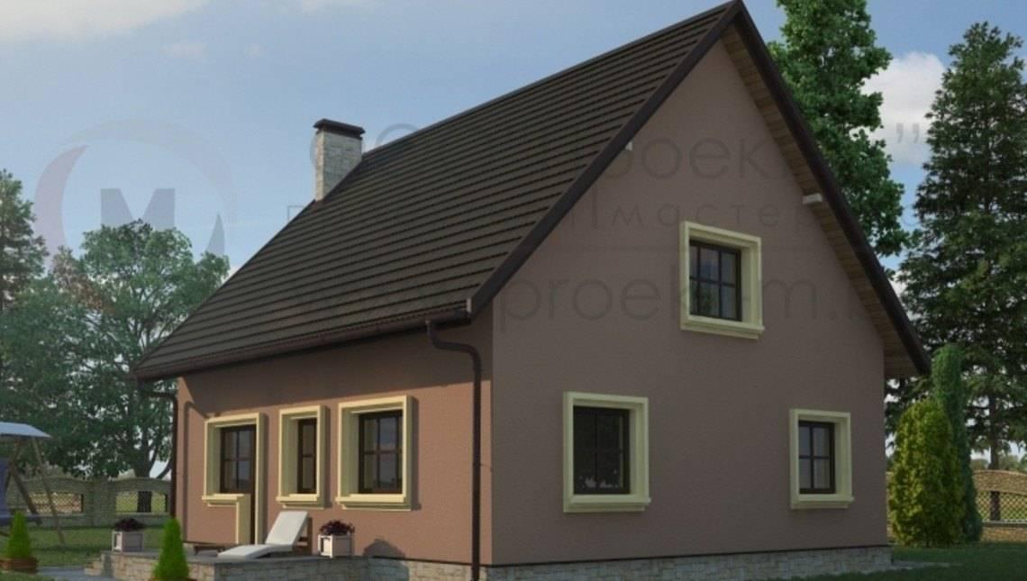 Экономичный классический дом с мансардой