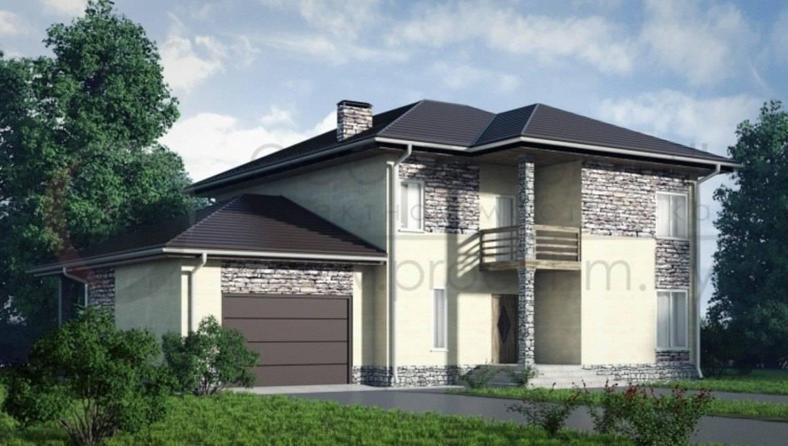 Классический двухэтажный дом с сауной