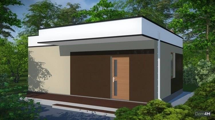 Проект современной бани с кухней