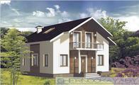 Проект жилого дома площадью 130 m²