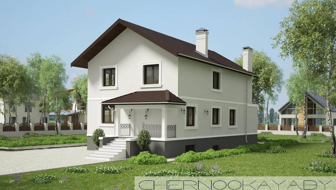 Архитектурный проект двухэтажного дома с сауной тренажерным залом и бассейном