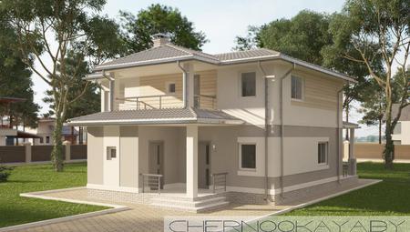 Проект аккуратного стильного светлого 2х этажного дома