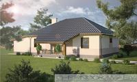 Проект простого загородного дома 130 м