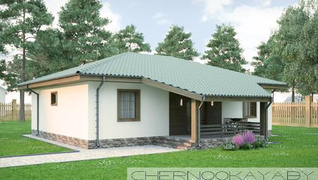 Проект удобного небольшого деревенского дома