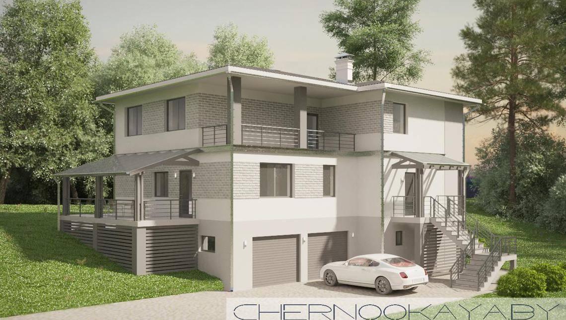 Проект удобного просторного дома с гаражом