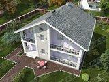 Проект дома с балконами 12м на 12м
