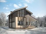 Проект практичного красивого 2х этажного особняка на 190 m²