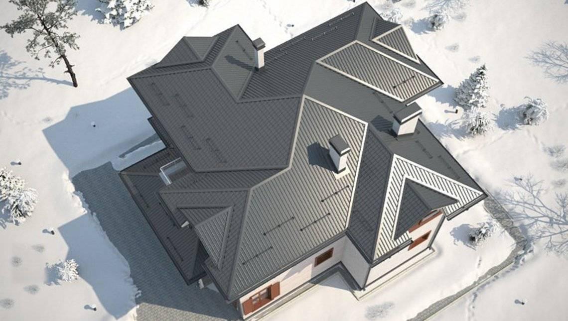 Проект простого дома в классическом стиле с гаражом для 1 авто
