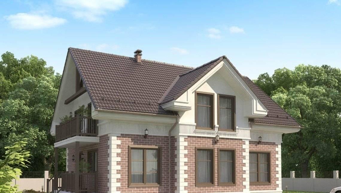 Проект мансардного классического дома
