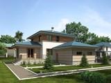 Проект жилого загородного дома 220 m² с террасой