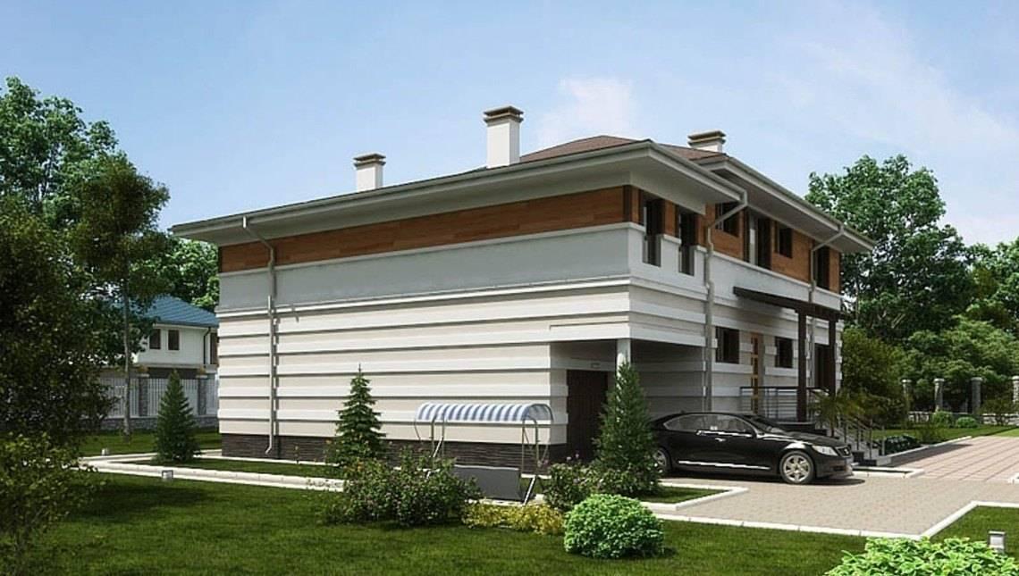 Проект жилого дома с террасой и удобной планировкой