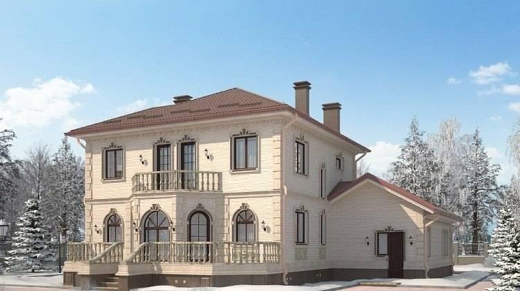 Проект роскошного изысканного дома с необычным фасадом