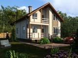 Проект жилого светлого дома с мансардой