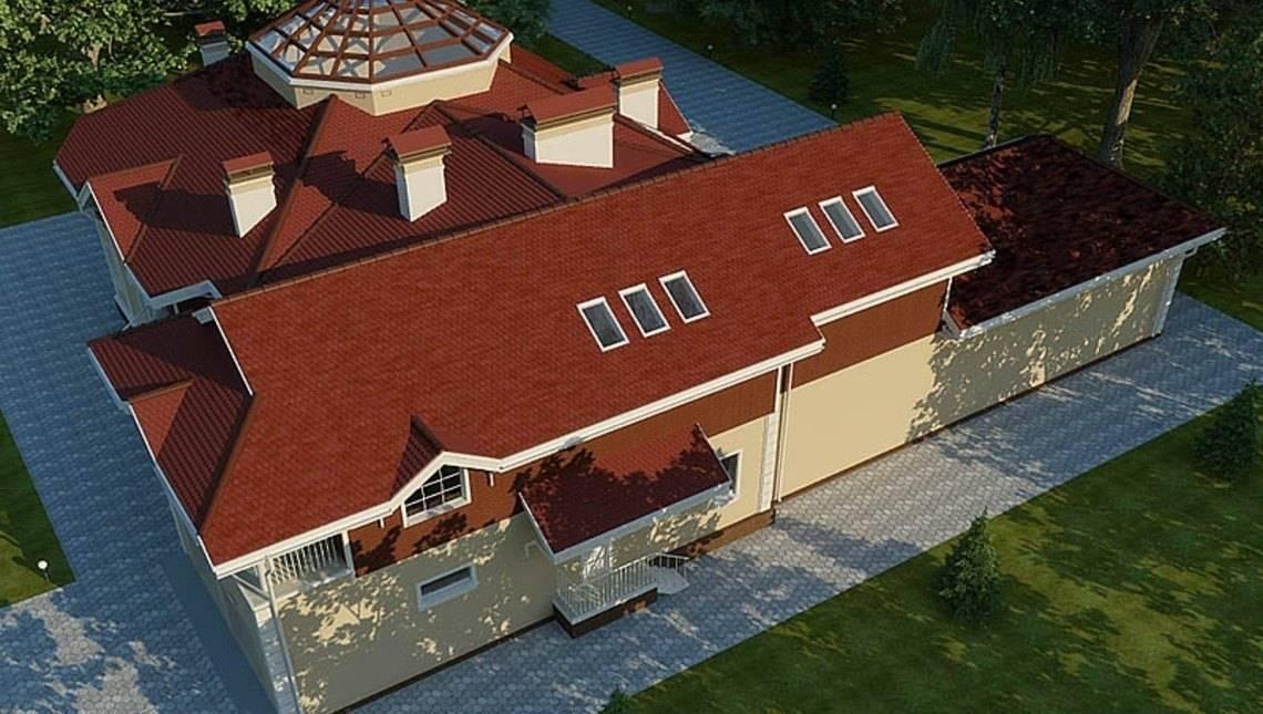 Проект шикарного загородного дома с цоколем