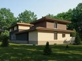 Проект жилого загородного дома с бассейном внутри