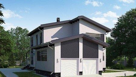 Проект 2х этажного небольшого загородного дома удобной планировки