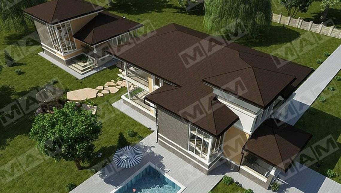 Архитектурный проект загородного большого дома 280 m²