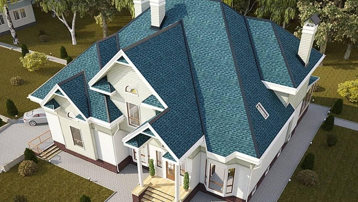 Архитектурный проект огромного загородного роскошного дома