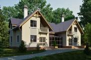 Проект большого просторного дома с мансардой и удобной планировкой