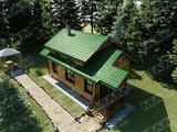 Архитектурный проект бани совмещённый с гостевым домиком