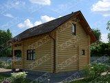 Архитектурный проект гостевого небольшого дома с баней