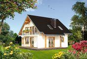 Проект стильного загородного особняка с изумительным многогранным эркером