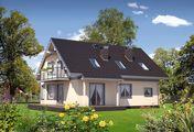 Двухэтажный дом, декорированный кирпичной кладкой черного цвета