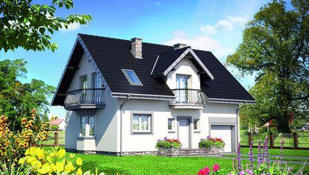 Проект загородного особняка с мансардой площадью до 150 m²