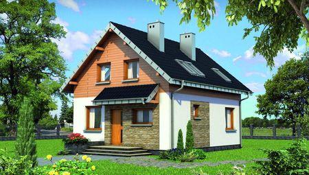Мансардный дом с габаритами 8 на 8