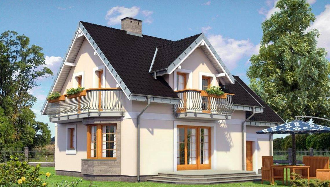 Интересное небольшое строение на пять жилых комнат