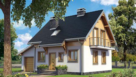 Небольшой загородный дом площадью 110 m²
