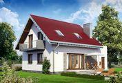 Интересный проект стильного особняка площадью 140 m²