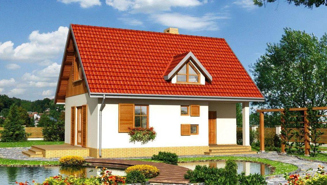 Небольшой дом на два этажа приятного вида