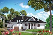Стильный загородный коттедж прямоугольной формы с площадью 290 m²