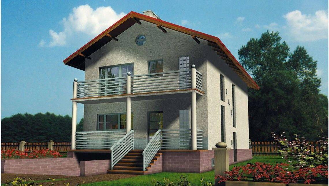 Удобный загородный дом с балконами и выходом в сад