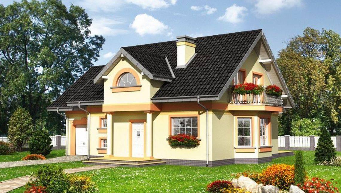 Красивый загородный особняк с цокольным и мансардным этажами