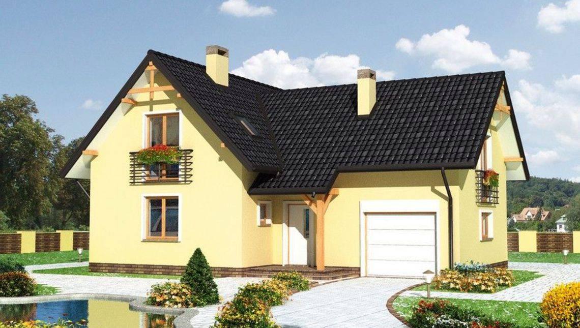 Проект небольшой двухэтажной усадьбы с четырьмя спальнями