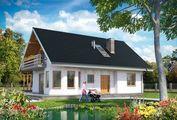 Архитектурный проект симпатичной усадьбы с деревянной террасой
