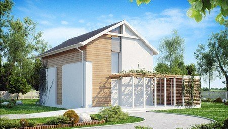 Проект двухэтажного недорогого дома