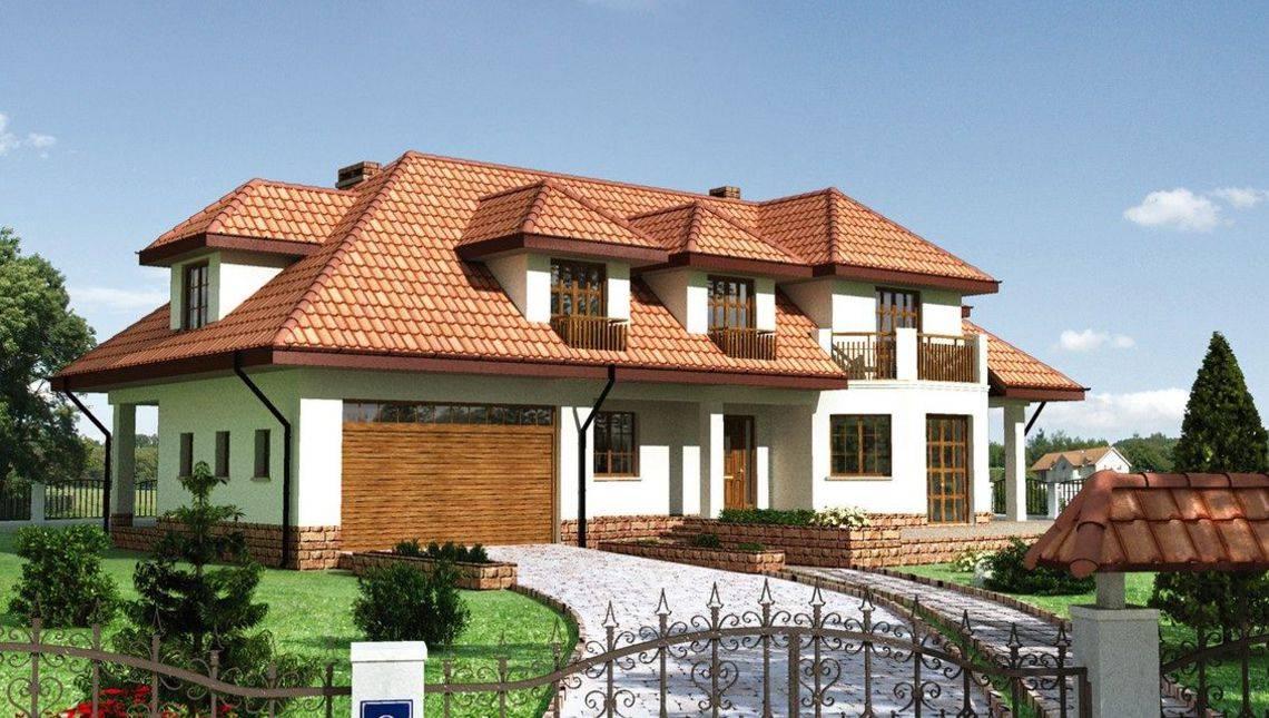 Проект представительного поместья для узкого участка