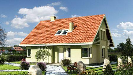 Коттедж с мансардой в традиционном стиле площадью 170 m²