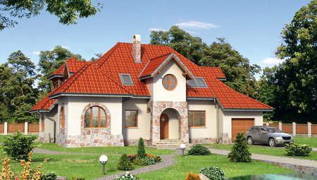 Интересный жилой дом, напоминающий замок