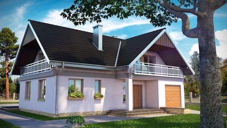 Привлекательный коттедж с гаражом, кабинетом и  тремя спальнями