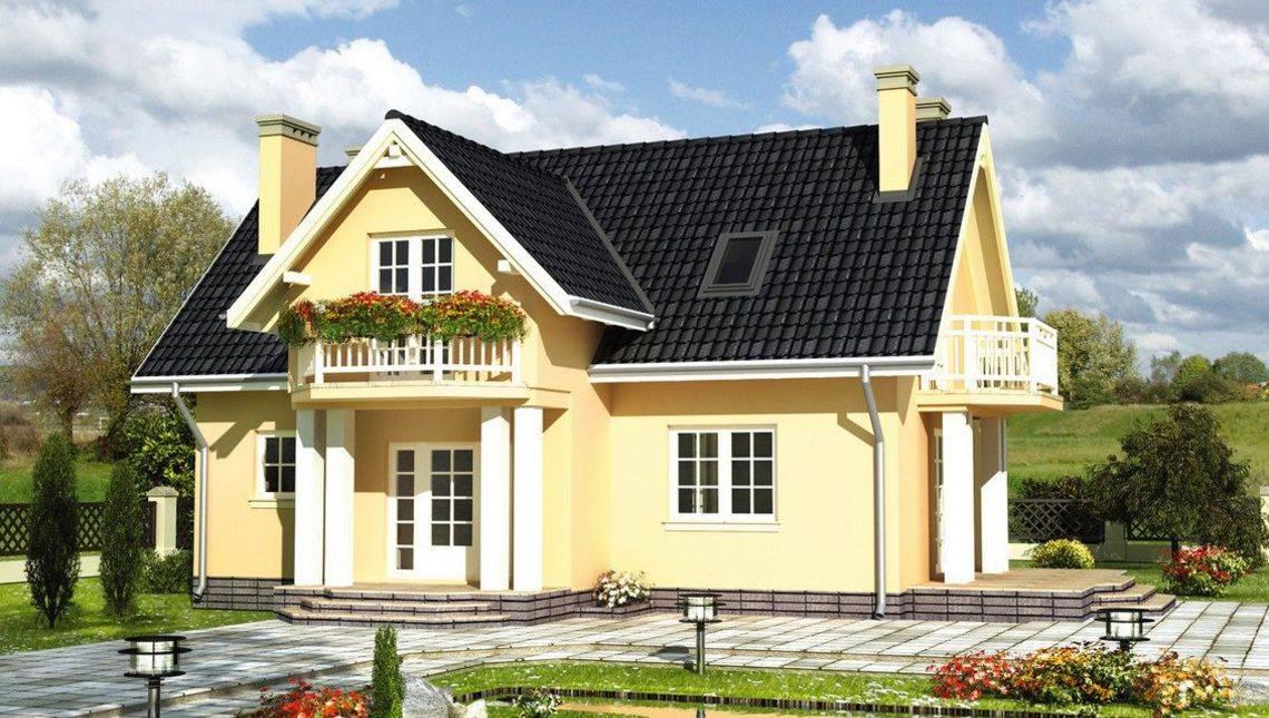 Изящный жилой дом с ажурными балконами
